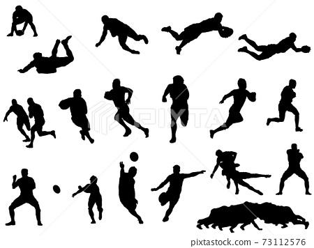 橄欖球silhouette_set 73112576