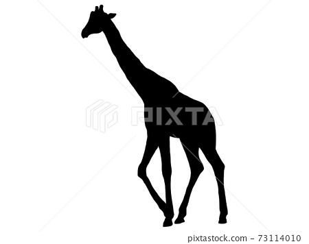 行走的長頸鹿剪影 73114010