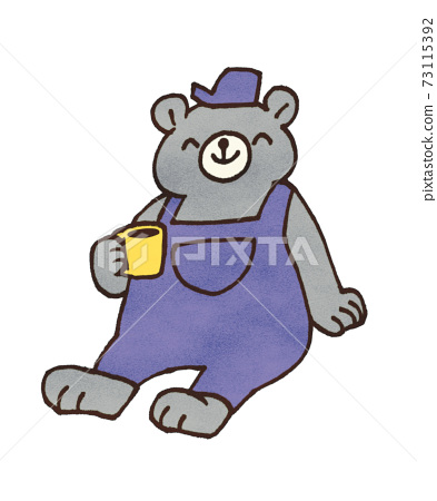 컵을 가진 곰의 일러스트 73115392