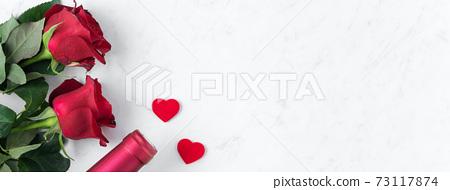情人節 大餐 紅酒 玫瑰 禮物盒 Valentine Day Wine Gift バレンタイン 73117874