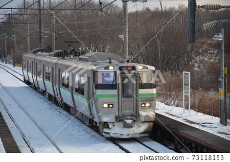 비비 역에 도착 지토 세선의 보통 열차 73118153
