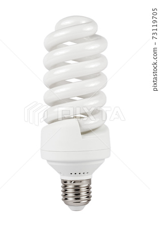 Fluorescent lamp Isolated on White Background. Fluorescent Lightbulb. Clipping Path 73119705