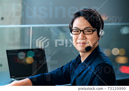 Network image of operators chatting in the office 73120990