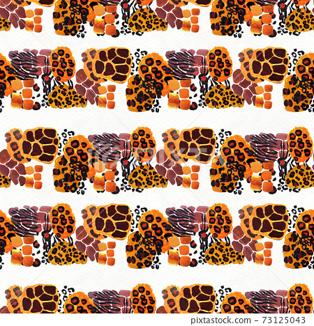Animal mix print seamless pattern. Abstract background 73125043