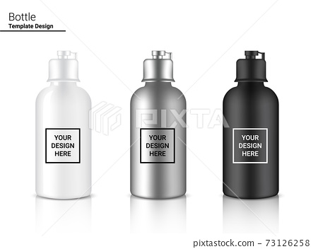 Bottle 3D Mock up Realistic Plastic Shaker in Vector for Water and Drink. Bicycle and Sport Concept Design. . 73126258