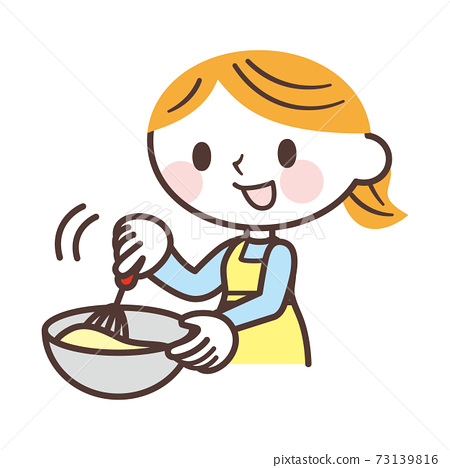 A woman making sweets 73139816