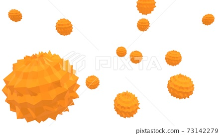 浮動病毒和花粉的圖像 73142279