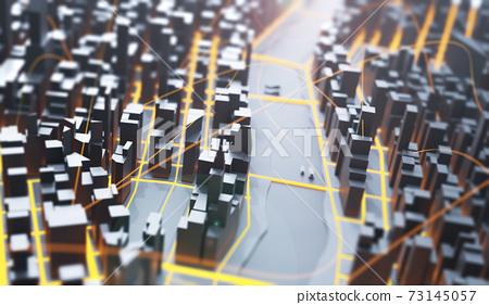 從遠處看未來的城市圖形 73145057