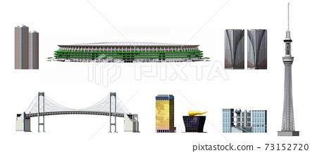 東京建物 3_ 스카이 트리 _ 신 국립 경기장 _ 레인보우 브릿지 73152720
