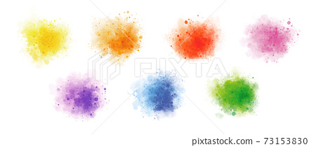 Colorful watercolor on white background vector illustration 73153830