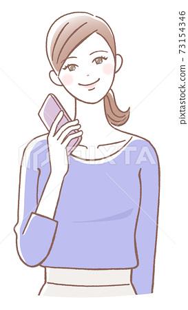 智能手機的女人 73154346