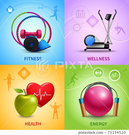 Fitness Icons Set 73154520