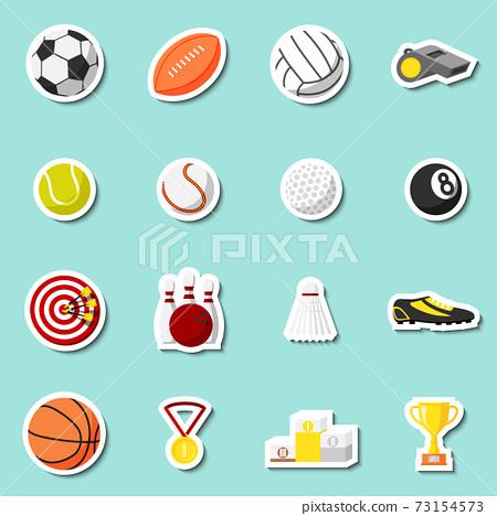 Sports stickers set 73154573