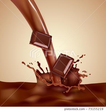 Choco Milk Illustration 73155219