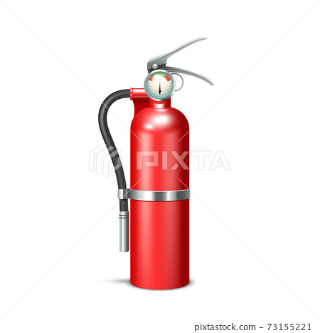 Fire Extinguisher Isolated 73155221
