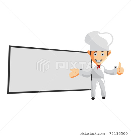 Chef Smile character creation Illustration Template Pose blank board 73156500