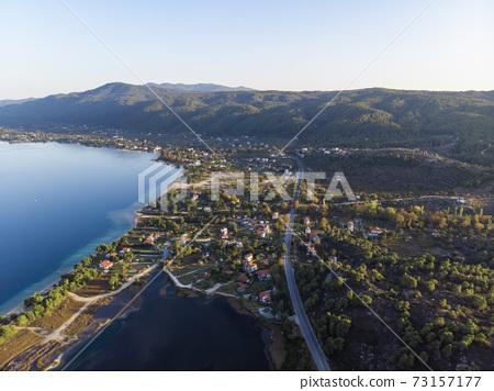Aegean sea coast in Greece 73157177