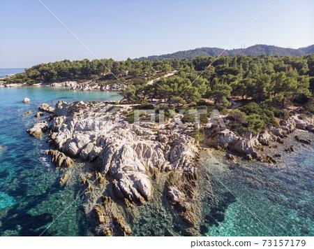 Aegean sea coast in Greece 73157179
