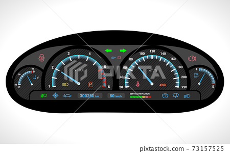 Car Dashboard Isolated 73157525