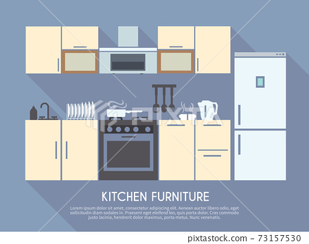 Kitchen Furniture Illustration 73157530