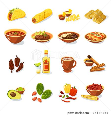 Mexican Food Set 73157534