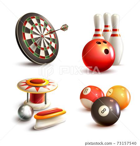 Game icons set 73157540