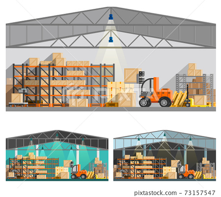 Warehouse And Storage Compositions Set 73157547
