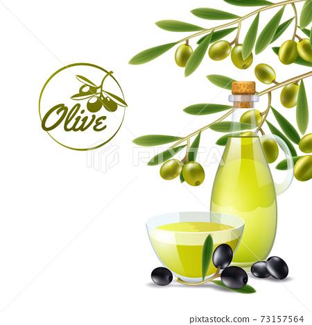 Olive oil pourer backdround 73157564