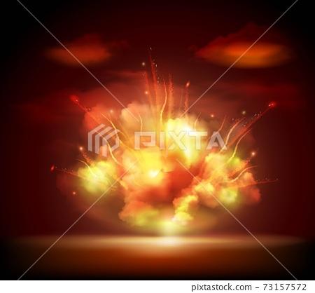Night explosion background banner 73157572