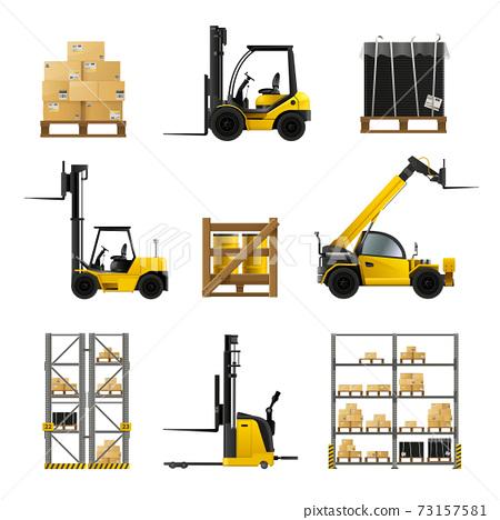 Forklift Realistic Set 73157581