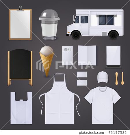 Ice Cream Corporate Identity Blank Set 73157582