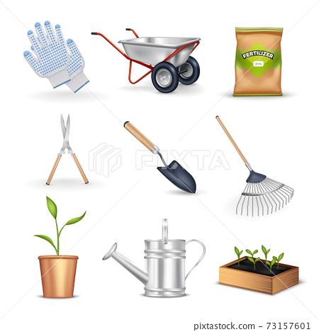 Gardening Decorative Icons Set 73157601