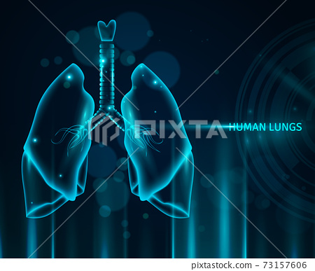 Human Lungs Background 73157606
