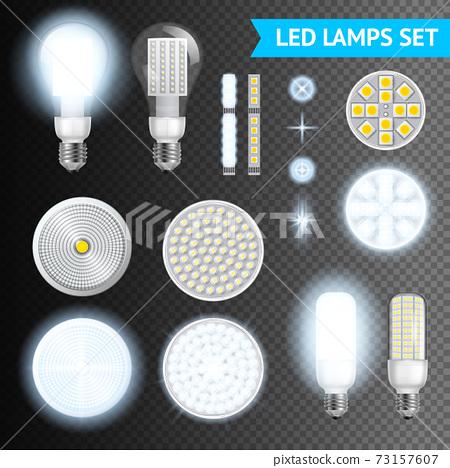 Led Lamps Transparent Set 73157607