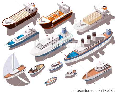 Ships Isometric Set 73160131