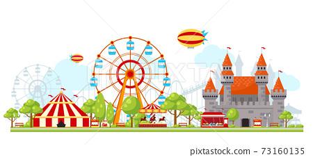 Amusement Park Composition 73160135