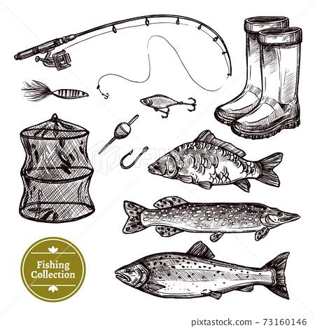 Fishing Sketch Set 73160146