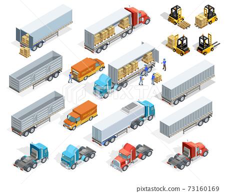 Transportation Isometric Elements Set 73160169