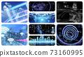 사이버, 디지털, 배경 73160995