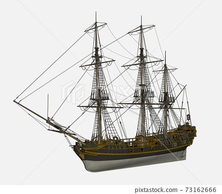 Licorne ship - 3D render 73162666