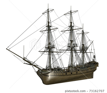 French frigate Medusa, 1810 - 3D render 73162707