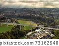 Aerial view of Fribourg, Switzerland 73162948