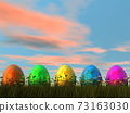Easter eggs - 3D render 73163030