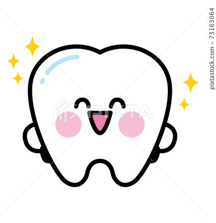 牙齒字符閃亮 73163064