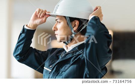 """戴頭盔的建築管理人射擊合作"""" LINK FOREST"""" 73164756"""