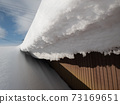 Image of winter roof snow removal work 73169651