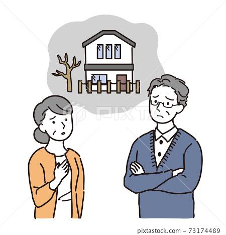 빈집 문제로 고민하는 노부부 73174489