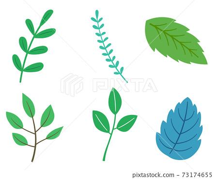 잎 일러스트 세트 73174655