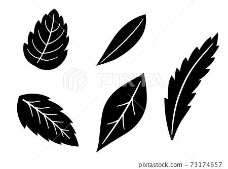 잎 일러스트 세트 73174657