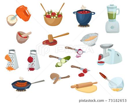 Cooking Process Set 73182653